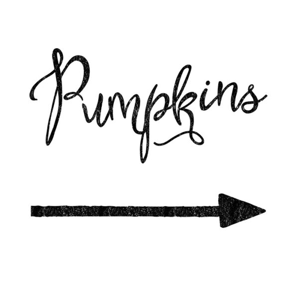 Pumpkins Print with Arrow