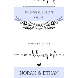 Welcome to our Wedding Printable Signs