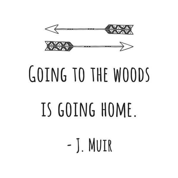 going to the woods is going home printable
