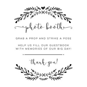 DIY Photo Booth Guestbook Printable Sign