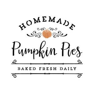 Homemade Pumpkin Pies Stencil SVG