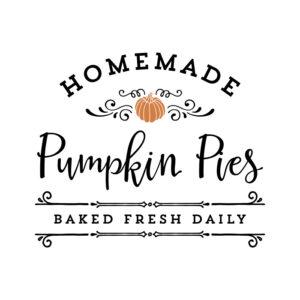 Homemade Pumpkin Pies SVG