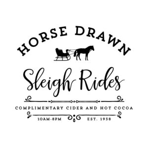 Horse Drawn Sleigh Rides SVG