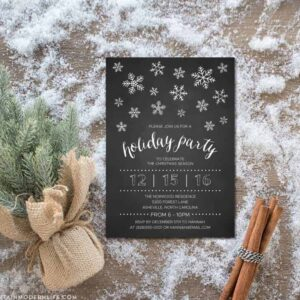 DIY Holiday Party Invitation