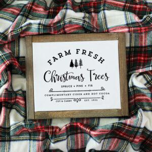 Farm Fresh Christmas Trees Printable