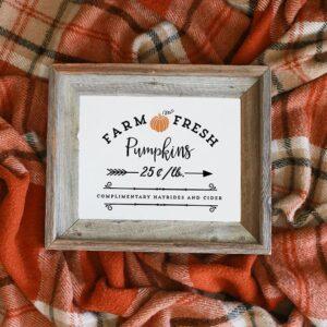Farm Fresh Pumpkins Printable