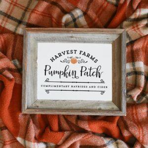 Harvest Farms Pumpkin Patch Printable