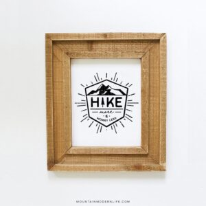 Hike More Worry Less Printable Design