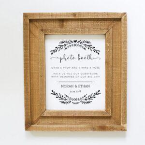 Photo Booth Wedding Sign