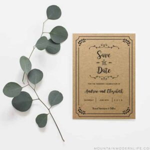 Whimsical Rustic DIY Save the Date