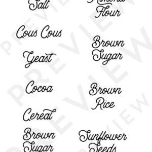 Printable Rustic Pantry Labels + SVG file