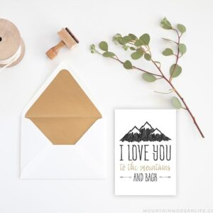 I love you to the Mountains and back Card