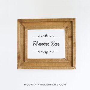 S'mores Bar Printables