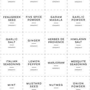 Printable Organic Spice Labels - 1.8x1.8
